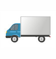 truck isolated on white cargo delivery vector image vector image