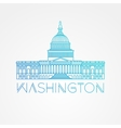 Washington DC US Capitol Building vector image vector image