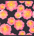 wild rose seamless pattern vector image vector image