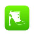 women boots icon digital green vector image vector image