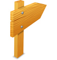 wooden arrow vector image vector image