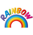 word design for rainbow vector image