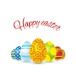 Happy easter with colorful eggs on vector image