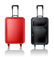 Two suitcases vector image
