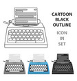 typewriter icon in cartoon style isolated on white vector image