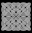 white and black celtic mandala background vector image
