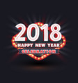 2018 happy new year celebration vector image