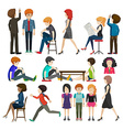 A group of businessminded people vector image vector image