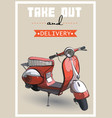 a retro scooter vector image