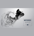 abstract silhouette of a motocross rider vector image vector image