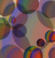 Abstraction of colored spheres vector image vector image