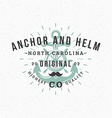 Anchor and Helm Vintage Retro Design Elements for vector image