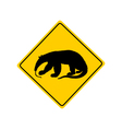 Anteater warning sign vector image vector image