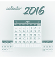 april 2016 vector image vector image