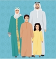 arab family vector image vector image
