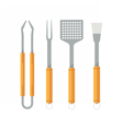 Barbecue Utensils Icons vector image vector image
