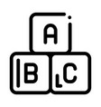 batoy cubes icon outline vector image vector image