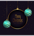 beautiful 3d style merry christmas festival vector image vector image