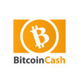 bitcoin cash crypto currency coin icon vector image vector image