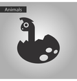 black and white style icon dinosaur egg vector image