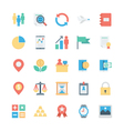 Business and Office Colored Icons 4 vector image vector image