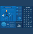 business success infographic template and elements vector image vector image