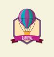 carnival circus design vector image vector image