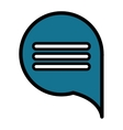 Chat speakbox bubble isolated flat icon vector image