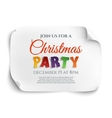 Christmas party invitation poster vector image vector image