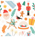 christmas seamless pattern merry winter holidays vector image vector image
