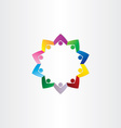 circle people teamwork star icon vector image vector image