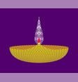color clay diya lamps flat design vector image