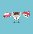 concept business over burden debt home and car vector image