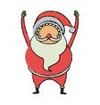 cute santa claus christmas character vector image vector image