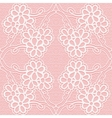 Delicate lace pattern on a pink background vector image vector image