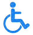 disabled person grunge icon vector image vector image