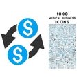 Dollar Exchange Icon with 1000 Medical Business vector image vector image