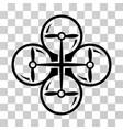 drone screws icon vector image vector image
