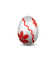 easter egg 3d icon red silver egg isolated white vector image