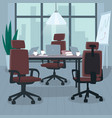 empty open workspace for multiple employees vector image