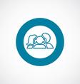 family icon bold blue circle border vector image vector image