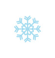 flat blue snowflake icon vector image vector image