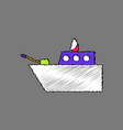flat shading style icon military warship vector image vector image