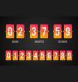 flip board countdown clock counter timer vector image vector image