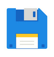 floppy flat multi color icon vector image vector image