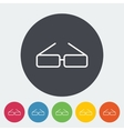 Glasses single icon vector image vector image