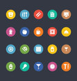 Glyphs Colored Icons 22 vector image vector image