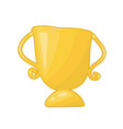 gold trophy isolated vector image