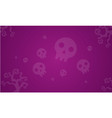 halloween skull background style collection vector image vector image