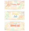 hand drawn tropical palm leaves banner vector image vector image